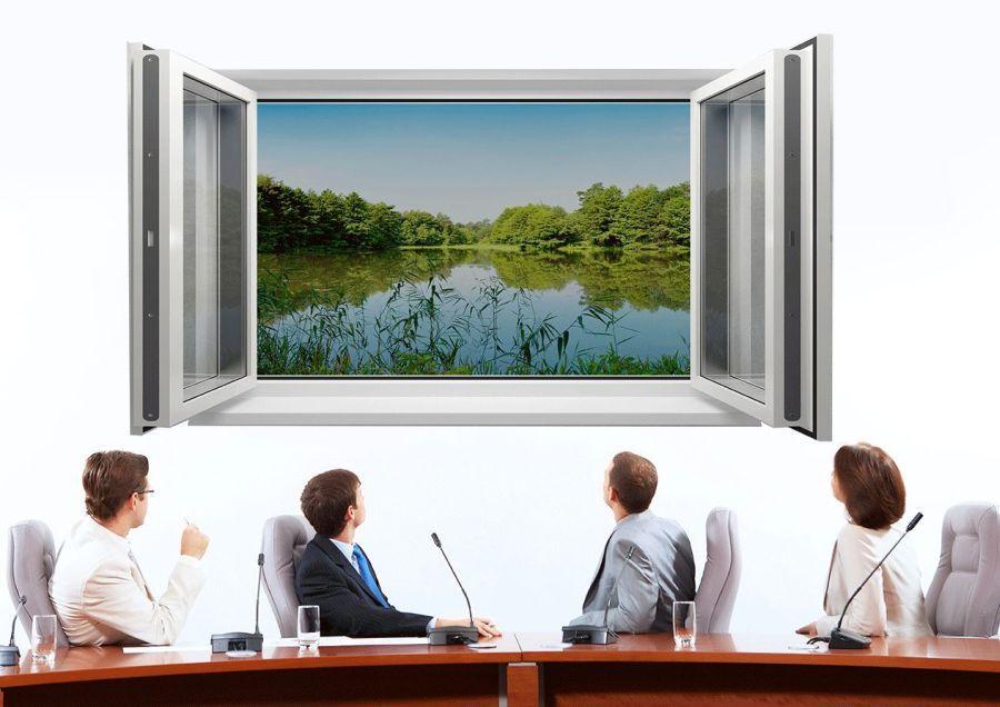 fototapeta na ścianie w biurze