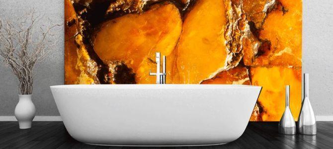 Tanie fototapety do łazienek – naturalne kamienie