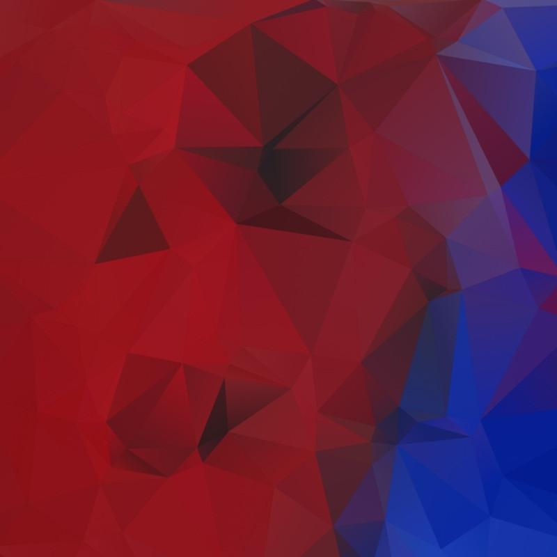 COBALT AND RED LOWPOLY