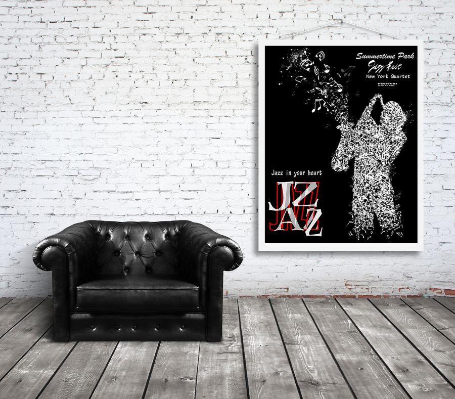 Muzyczne Plakaty W Stylu Retro