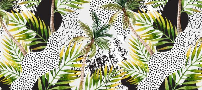 Modny wzór – egzotyczne liście