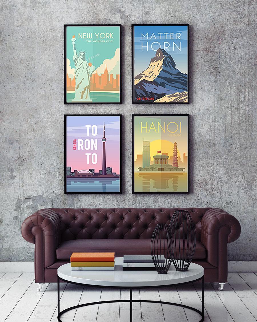 9584d56cf413b4 Plakaty reklamujące różne zakątki świata, to świetny sposób na puste i  nudne ściany, jak również wyrażenie swoich zainteresowań i pasji.