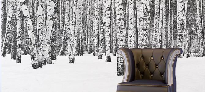 Zimowe pejzaże na ścianie – obrazy, tapety, naklejki